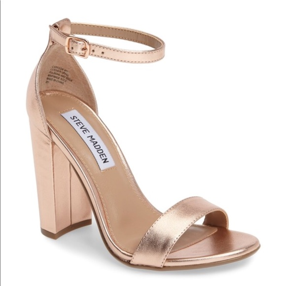fc459cd04327 Steve Madden Carrson Sandal in Rose Gold. M 5ac1620f05f430c2c6fbde58